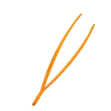 CapitolBrand® V68399 Plastic Tweezer Forceps with Rounded Ends, Length: 250mm, Orange POM (Case of 5)