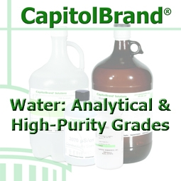 CapitolBrand® CB-9766-10L Water, Distilled, ASTM Type II, ACS Reagent Grade, 10L