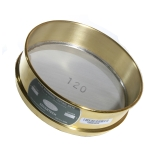 Advantech 120BS8F ASTM Brass 8-Inch Full Height Test Sieve with Stainless Steel Wire Mesh Size: #120, ASTM E 11 Certified