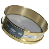 Advantech 35BS8F ASTM Brass 8-Inch Full Height Test Sieve with Stainless Steel Wire Mesh Size: #35, ASTM E 11 Certified