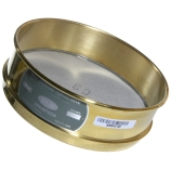 Advantech 80BS8F ASTM Brass 8-Inch Full Height Test Sieve with Stainless Steel Wire Mesh Size: #80, ASTM E 11 Certified