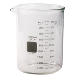 Corning® 1003-250 PYREX® 250mL Low Form Heavy Duty Griffin Beaker, Double Scale, Graduated
