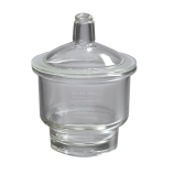 Corning® 3081-150 PYREX® 2.2-Liter Glass Desiccator with Small Knob Top Cover, Complete, Plate Diameter: 140mm