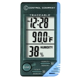 Control Company 4040 | Traceable® Compact Desktop Weather Station Clock with Temperature & Relative Humidity Display, Range: 32.0 to 122.0°F; 0.0 to 50.0°C, Humidity Range: 20 to 90% Dimensions: 4-1/4 x 2-1/4 x 1/2-Inch
