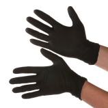 Dynarex® 2522 SafeTouch™ Black Nitrile Exam Gloves, Powder-Free, 9.5-Inch, 5mil, Medium