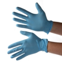 TechNiGlove® TN100PFB TechNitrile Blue Nitrile Cleanroom Gloves in TechniPak Dispenser, 9.5-Inch