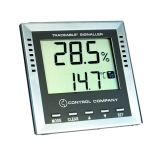 Control Company 4410 | Traceable® Signaller Digital Weather Station with Alarm for Temperature Dew-Point & Humidity, Range: -40 to 70 °C; -40 to 158°F, Dimensions: 4-1/8 x 4-1/8 x 1-Inch