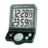 Control Company 5022 | Traceable® 24-Hour Black Jumbo Digital Timer with Clock & Dual Display, Range: 1 Second to 24 Hours, Dimensions: 3-3/4 x 5-1/2 x 1/2-Inch
