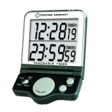 Control Company 5023 Traceable® 24-Hour White Jumbo Digital Timer with Clock & Dual Display Timing Modes, NIST Traceable