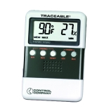 Control Company 4096 | Traceable® Compact Digital Hygrometer & Thermometer with Minimum/Maximum Memory, Dimensions: 2-5/8 x 3-7/8 x 5/8-Inch, Humidity Range: 25 to 95%, Range: 32 to 122°F; 0 to 50°C
