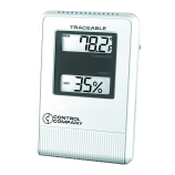 Control Company 4088 | Traceable® Wall Mountable Digital Hygrometer & Thermometer, Range: 32 to 122°F; 0 to 50°C, Dimensions: 3-1/2 x 5 x 7/8-Inch