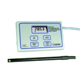 Control Company 4085 | Traceable® Hand Held Digital Hygrometer & Thermometer Monitor with Attached Probe, Range: -40.00 to 220.0°F;-40.00 to 104.0°C, Dimensions: 5-1/2 x 3-1/2 x 1-1/4-Inch
