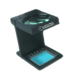 Control Company 3436 | Hands-Free™ Compact Fold-Up Illuminated Magnifier with 10X Magnification & 0.5-Inch Diameter Lens
