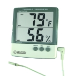 Control Company 4184 | Traceable® Wall Mountable Jumbo Display Digital Hygrometer & Thermometer with Minimum/Maximum Memory, Cable & Probe, NIST Traceable, Dimensions: 4-1/4 x 4 x 3/4-Inch