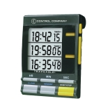Control Company 5025 | Traceable® Jumbo Display Digital Three-Channel / Triple Display, Range: 20 Hours, Dimensions: 2-1/2 x 3-3/8 x 7/8-Inch