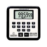Control Company 5021 | Traceable® Mini-Alarm Digital Timer with Stopwatch & Count-Up/Count-Down Timing, Range: 100 Hours, Dimensions: 2-3/4 x 2-3/4 x 1/2-Inch