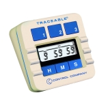 Control Company 5002 | Traceable® Jumbo Display Three-Channel Original Lab Timer with Alarm, Timing Range: 10 Hours, Dimensions: 3 x 3 x 1-3/8-Inch