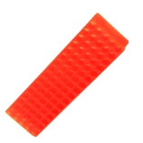 Bio Plas® 0072 | 80-Place Microcentrifuge Tube Rack for 1.5mL & 2.0mL Tubes, Length x Depth: 9 x 2.1-Inch, Fluorescent Orange