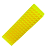 Bio Plas® 0074 | 80-Place Microcentrifuge Tube Rack for 1.5mL & 2.0mL Tubes, Length x Depth: 9 x 2.1-Inch, Fluorescent Yellow