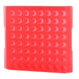Bio Plas® 0085F | 64-Place Reversible Microcentrifuge Tube Rack for 1.5mL & 2.0mL Tubes, Fluorescent Pink