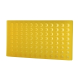 Bio Plas® 0096F | 96-Place Reversible Microcentrifuge Tube Rack for 1.5mL & 2.0mL Tubes, Fluorescent Yellow