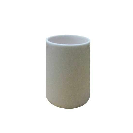 CoorsTek® 65539 Cylindrical Alumina Crucible, 100mL, AD-998, Top