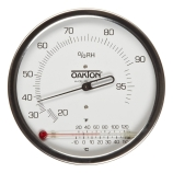 Oakton® WD-03313-70 Wall Mountable Analog Hygrometer with Glass Thermometer, RH Range: 20 to 99%, Temperature Dual Range: -20 to 50°C/-4 to 120°F, Diameter: 4.125-Inch