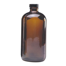 Wheaton 174 220976 1000ml Safety Coated Amber Glass Boston