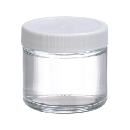 Wheaton 174 W216908 Clear Straight Sided Glass Sample Jar