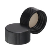 Wheaton® Solid Black Phenolic Screw Caps with 14B Rubber Liner