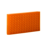 Bio Plas® 0094F | 96-Place Reversible Microcentrifuge Tube Rack for 1.5mL & 2.0mL Tubes, Fluorescent Orange