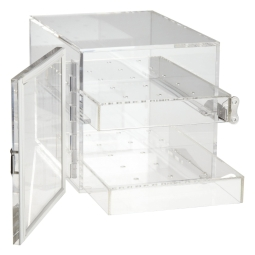 Bel-Art 420640000 Small Acrylic Desiccator Cabinet, Clear, Non-Vacuum & Electric