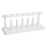 Bel-Art 185270000 In-Line Test Tube Rack, White HDPE, 6-Place