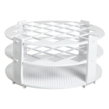 Bel-Art 187410020 No-Wire™ Round Test Tube Rack for 20mm Tubes, White Polypropylene, 24-Place