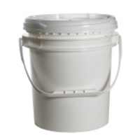 Dynalon® Heavy Duty Lab Pails with Screw On Cover, White HDPE