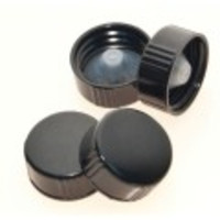 Kimble® Black Phenolic Screw Caps with Taperseal Liner
