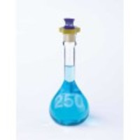 Kimble® KIMAX® 25mL Wide Mouth Volumetric Flask with Polyethylene [ST] Stopper