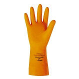 Ansell® 192083 | 13-Inch Orange Heavyweight Latex Gloves, Flock-Lined, Size 8