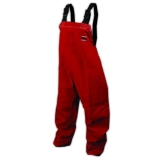 Ansell® 966409 CPC GoreTex® Bib Overalls, Red Polyester, Medium, Case of 5