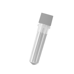 Screw cap microcentrifuge tube with conical bottom clear o ring cap
