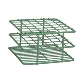 Bel-Art 187882000 POXYGRID® Half Size Epoxy Coated Wire Test Tube Rack 18 to 20mm Tubes, Green, 20-Place