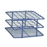 Bel-Art 187882001 POXYGRID® Half Size Epoxy Coated Wire Test Tube Rack 18 to 20mm Tubes, Blue, 20-Place