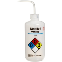 3611a6c6d56a Nalgene® 2425-0505 Right-To-Know Wash Bottle for Distilled Water ...