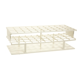 Nalgene® 5970-0013 Unwire™ Test Tube Rack for 13mm Tubes, 72-Well, White ResMer™ Acetal Plastic, Th