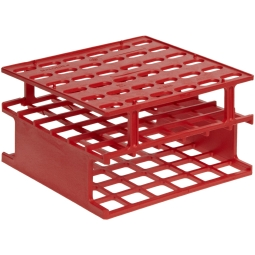 Nalgene® 5972-0530 Unwire™ Half-Size Test Tube Rack for 30mm Tubes, 9-Well, Red ResMer™ Acetal Plas