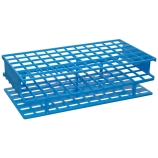 Nalgene® 5970-0313 Unwire™ Test Tube Rack for 13mm Tubes, 72-Well, Blue ResMer™ Acetal Plastic, Thermo Scientific
