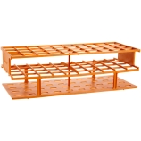 Nalgene® 5970-0125 Unwire™ Test Tube Rack for 25mm Tubes, 40-Well, Orange ResMer™ Acetal Plastic, Thermo Scientific