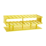 Nalgene® 5970-0225 Unwire™ Test Tube Rack for 25mm Tubes, 40-Well, Yellow ResMer™ Acetal Plastic, Thermo Scientific