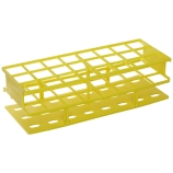 Nalgene® 5970-0230 Unwire™ Test Tube Rack for 30mm Tubes, 24-Well, Yellow ResMer™ Acetal Plastic, Thermo Scientific
