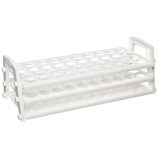 Nalgene® 5930-0016 Test Tube Rack for 13 to 16mm Tubes, 40-Well, White PP, Thermo Scientific